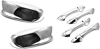 S SIZVER Combo Chrome Top Half Mirror+4DR Handle Covers for 2008-2012 Honda Accord