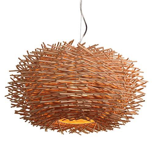 OMGPFR Nido vogel hanglamp Tesitura van rotan bedlampje retro industriële hanglamp E27 Loft licht voor woonkamer slaapkamer bar kroonluchter