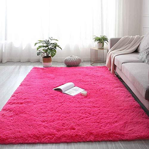 JONJUMP Alfombra teñida de felpa, suave alfombra para sala de estar, dormitorio, antideslizante, para dormitorio infantil