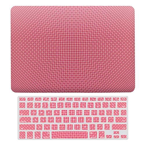 Carcasa rígida de plástico para MacBook Air 13 A1466, A1369, compatible con MacBook Air 13, luz de velas, color rosa en rosa caliente