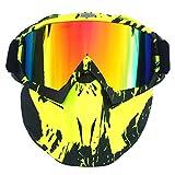 Mecotech Gesichtsmaske, Taktische Maske Bunt Gesichtsmaske Paintball Maske Schutzmaske für Nerf (Bunt-1)
