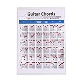 EXCEART Hoja de Trucos de Guitarra Referencia de Acordes de Guitarra Acordes de Guitarra Hoja de Trucos para Acordes Herramienta de Entrenador de Guitarra de Papel para Principiantes Talla L