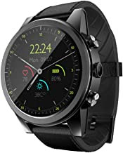 Berryhot Smart Watch X360 Android 7 GPS 3+32GB 2MP IP67 Waterproof 4G Smart Watch Camera Compatible Samsung Android iPhone iOS Kids Women Men (Black)
