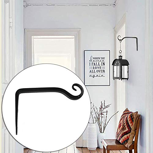 anruo IJzeren Muurhaak Bloemenmand Schroeven S Haak Badkamer Keuken Handdoekrek Houder voor het ophangen van lantaarns wandpotten | Haken & Rails