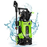 mrliance 3800PSI Electric High Pressure Washer 2.8GPM Power Washer 2000W High Pressure Washer Cleaner Machine with Spray Gun, Hose Reel, Brush, and 4 Adjustable Nozzle(Green)