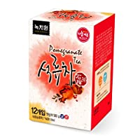 (Nokchawon) 緑茶園 ザクロ茶 12袋 /韓国茶, 粉末ティー, 粉末ドリンク