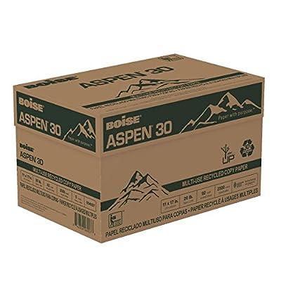 "BOISE ASPEN 30 Multi-Use Recycled Copy Paper, 8 1/2""x14"", Legal, 92 Bright White, 20 lb"