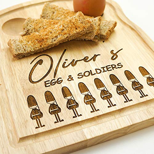 Original Monkey EGG CUP AND SOLDIERS BOARD, BIRTHDAY GIFT, CHILD'S BREAKFAST GIFT, PERSONALISED GIFT OMG116