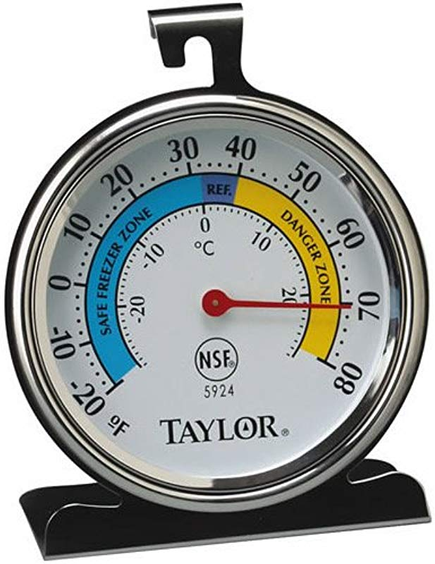 Taylor Refrigerator Thermometer 20 Deg F To 80 Deg F 3 1 4 X 3 3 4