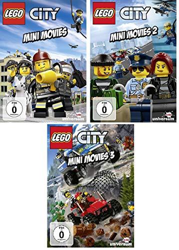 Lego City Mini Movies 1+2+3 im Set - Deutsche Originalware [3 DVDs]