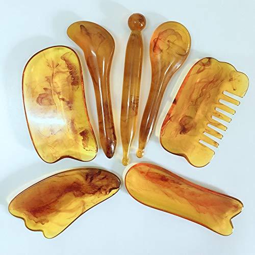 KKBES 7PCS Gua Sha Scraping Elegant Max 60% OFF Massage Body Guasha Tools Facial Boa