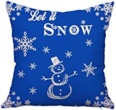 Huacel Christmas Pillows, Christmas Gift 2019 Happy New Year Merry Christmas Letters Linen Cushion Cover Fabric Pillow Case Cushion Decorative for Couch Sofa Pillowcase 18x18 Inch - Pattern 17