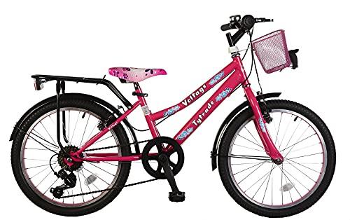 20 Zoll Kinder City Fahrrad Kinderfahrrad Cityfahrrad Bike Rad Mädchenfahrrad Mädchenrad Bike Rad Cityrad 7 Shimano Gang Voltage Lady PINK TY2021 PINK