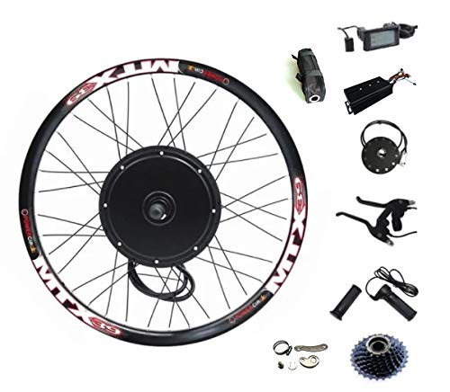 72V 2000W Rear Wheel Motor, 2000W Electric Bicycle Conversion Kit with Mutifunction SW900...