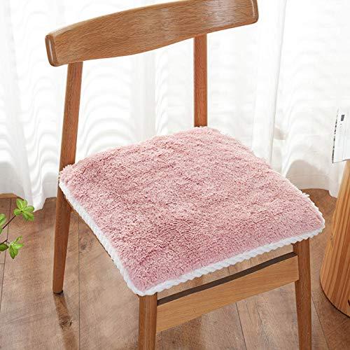 Cojines de silla de comedor de peluche cortos, al aire libre para exteriores almohadillas de asiento antiadherente al aire libre cuadrado Pista de sillas de cocina transpirable Parts de oficina Decora