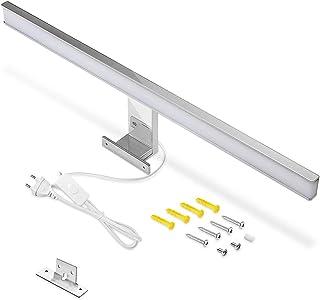 LED-spegellampa badrumslampa 60 cm, IP44 kall vit 6000 k badrumsspegelbelysning lampa 10 W 900 lm badrumslampa med strömbr...