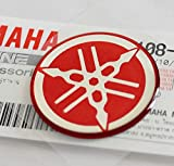 100% Original 30mm Diámetro Yamaha Diapasón Pegatina Emblema Logotipo Rojo Relieve Cúpula Gel Resina Autoadhesivo Moto / Jet Ski / Atv / Nieve