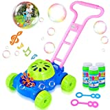 HOMOFY Bubble Machine Toys Automatic Durable Trolley Bubble Toy Bubble Lawn Mower with Music 1,000 Bubbles Per Minute Mower Gifts for 3 4 5 Years Old Kids Gift.