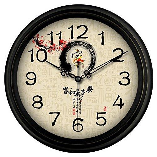 Giow Große Glocke Wohnzimmer Nordic Stil Einfache leise Quarzuhr Schlafzimmer Runde Uhr Kreative Mode Uhr 30,5 cm weiß, F8 Home Affairs, 35,56 cm