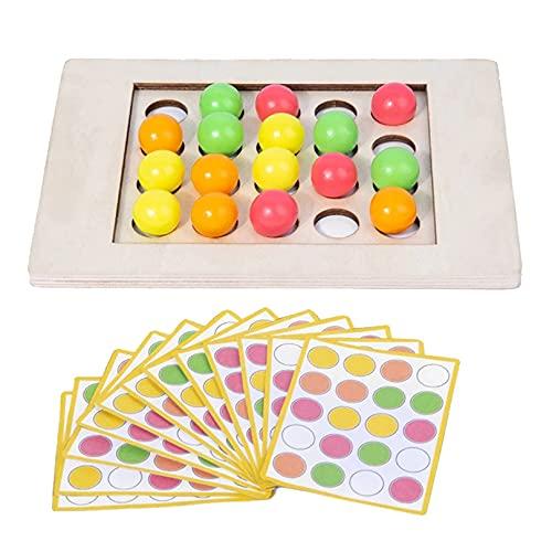 BCDZZ Juegos de mesa a juego de madera apilando juegos inteligentes educativos regalos para 3 4 5 6 años niños niños niñas
