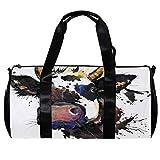 TIZORAX Bolsa de viaje para mujeres hombres animales de granja vaca deportes gimnasio bolsa de mano fin de semana noche bolsa de viaje al aire libre equipaje bolso