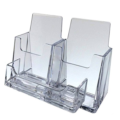 Source One 6 Pack 3 Pocket 2 Vertical 1 Standard Clear Business Card Holder (S1-3play6)