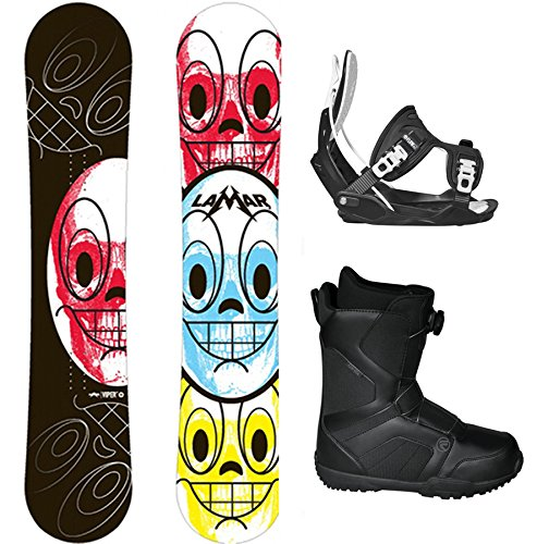 Lamar Viper'Dancing Skulls' Complete Snowboard Package with Flow Bindings and Flow Vega BOA Boots - Board Size 154 - Boot Size 12