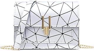 Women Small Flap Shoulder Crossbody Bags Girls Pu Leather Geometric Print Messenger Fashion Chain Korean Satchel