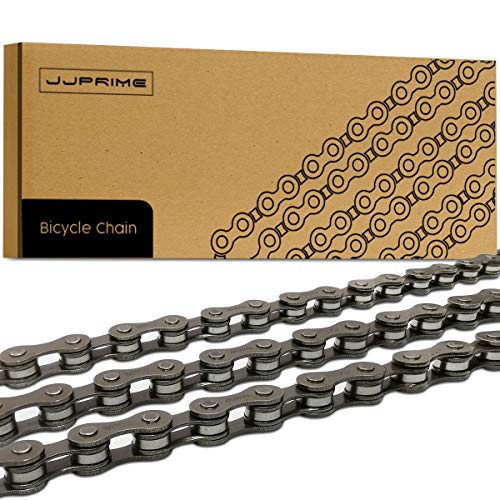 JJOnlineStore JJ PRIME 5/6/7 Speed Bicycle Chain for Gear Mountain Bike Road Hybrid 1/2 x 3/32 Inches, 116 Links Anti Rust High Strength Steel Bike Derailleur Chain