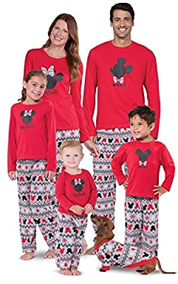 PajamaGram Matching Pajamas for Family - Mickey Mouse Pajamas, Red, Men's, XL from PajamaGram