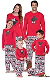 PajamaGram Matching Pajamas for Family - Minnie Mouse, Red, Toddler Girls, 2T