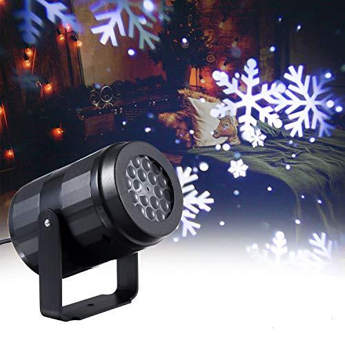 Lixada Luces de Proyector de Copos de Nieve Navidad en Movimiento Lámpara de Paisaje Decoración Navideña al Aire Libre