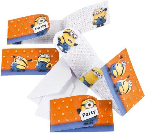 MIN Minions Einladungskarten 6 Stück