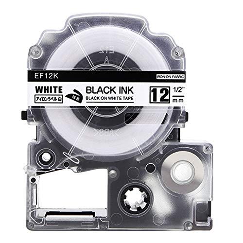 テプラ PRO用テープカートリッジ アイロンラベル 白 SF12K [黒文字 12mm×5m]