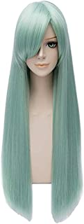Alacos Long Green Anime Costumes Halloween Wig for the Seven Deadly Sins Elizabeth Liones +Cap