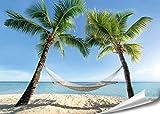 PMP 4life.® XXL Poster Strand Hängematte zwischen Palmen