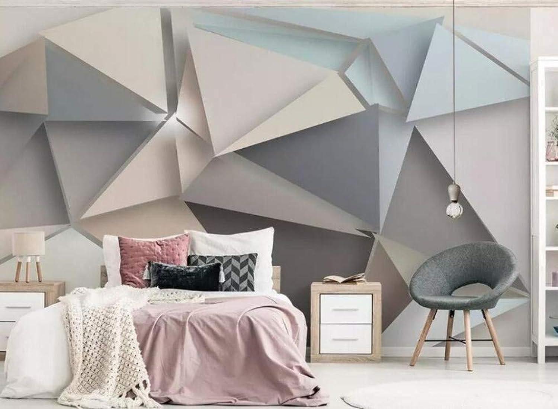 alta calidad general Mural Mural Mural 3D Papel Tapiz Mural Moderno Minimalista 3D Triángulo Tv Fondo Papeles De Parojo Decoración Para El Hogar, 200Cmx140Cm  ofreciendo 100%
