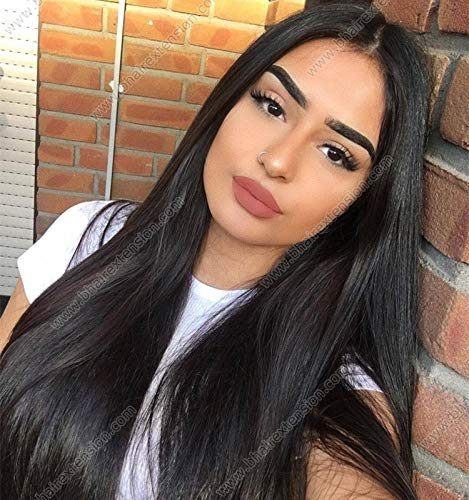 Paradise Full Head Synthetic Women Wigs Long With Golden Highlight Hair For Women/Women Wigs Natural Hair (FREE CARRY POUCH) (Long Straight Black)