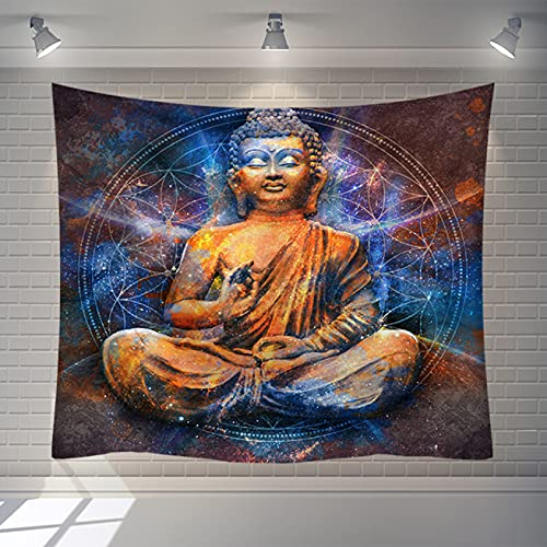 YDyun Tapestry The Tapestry Wall Hanging Tapestries Home Decor Printed Buddha Series Wall-mounted Beach Towel