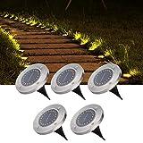 Luces solares de jardín, 5 Piezas de Luces solares de Suelo, para césped de Camino de Camino de Patio