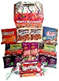 """ATTRACTIVE GIFT BOX: Our classic gable gift box is covered in fun, colorful images of birthday candles, confetti, birthday streamers, and exclaims """"Happy Birthday!"""" in bold white letters across the front. A great alternative to a boring brown cardboa..."""