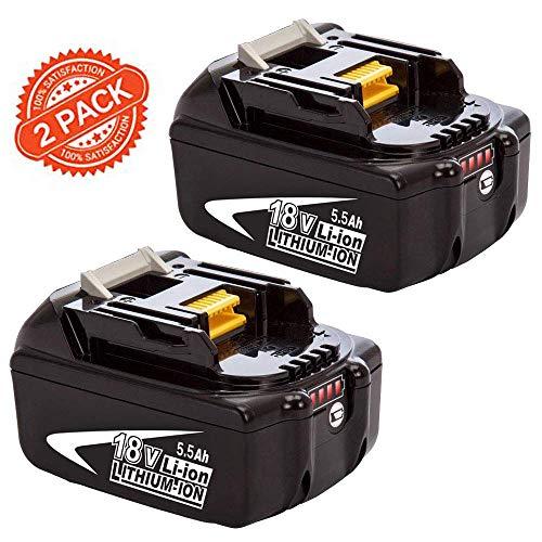 [2 Stück] FUNMALL BL1860B 18V Ersatzakkus für Makita akku 18V BL1850B BL1850 BL1840B BL1840 BL1845 194205-3 194309-1 194204-5 196399-0 196673-6 LXT-400 mit Indikator