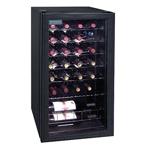Polar wijnkoeler voor 28 flessen, 825 mm x 430 mm x 480 mm, drankkoeler, koelkast