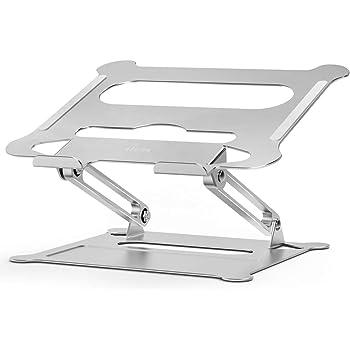 """Besign LS05 Supporto PC Portatile, Supporto per Portatile Ergonomico Regolabile in Alluminio, Supporto per Laptop Compatibile con Portatili da 10-15,6"""" (Argento)"""