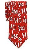 Retreez Weihnachts-Krawatte mit Schneeflockenmuster, Mikrofaser, 6,1 cm - Rot - Einheitsgröße