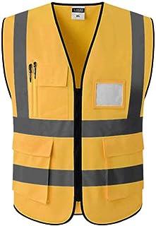 LID DA 安全反射ガウン - マルチポケット交通安全保護反射ベスト (色 : ゴールデン ご゜るでん, サイズ さいず : Xl xl)