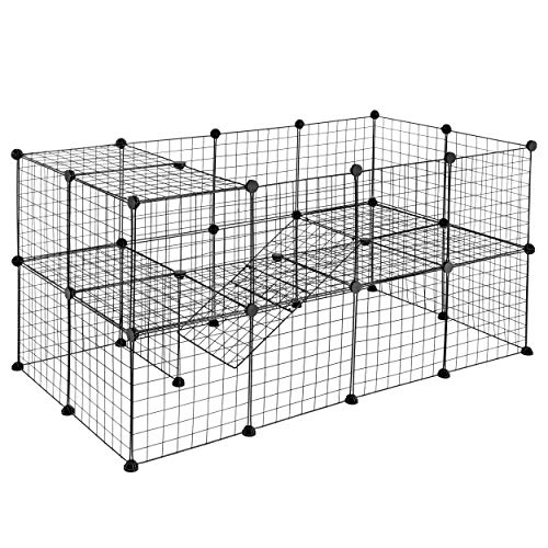 Nova Microdermabrasion Pet Playpen Small Animals Cage for Rabbits, Guinea Pigs, Bunnies, Puppies Fence Crate Kennel 36 Panels Metal Wire Yard Fence Indoor