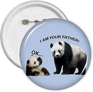 Father Care Panda Enfant Cadeau Art Déco Fashion Pins Badge Badge Badge Emblème Accessoire Décoration 5pcs