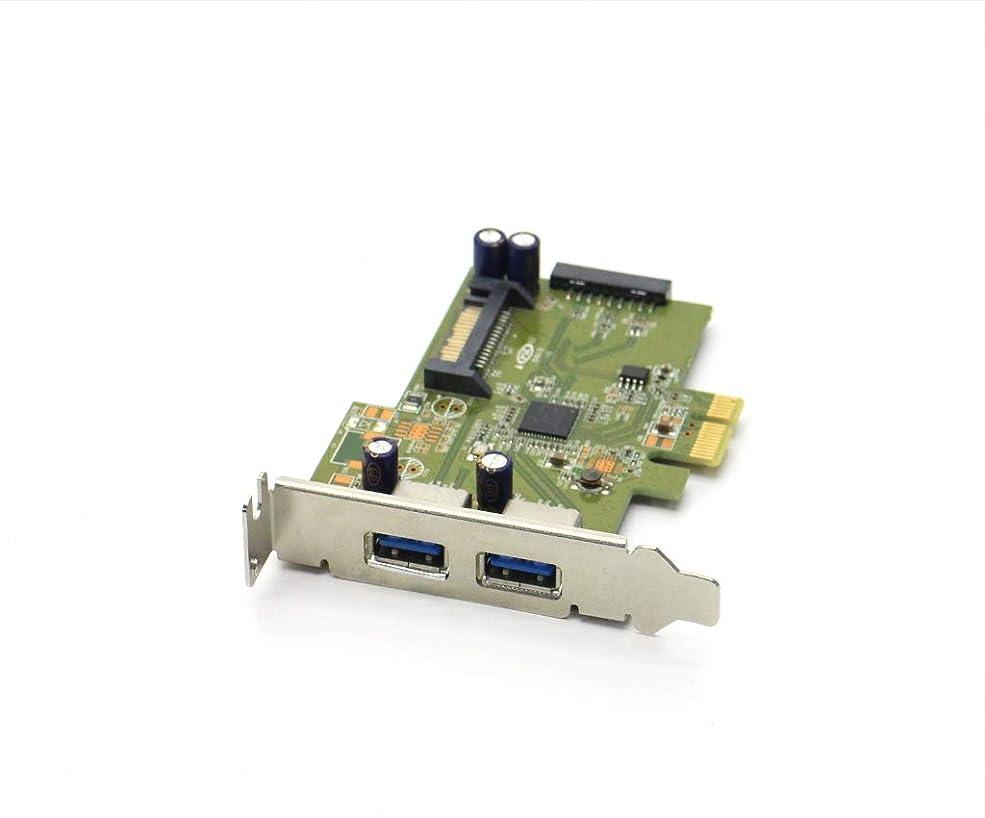 いらいらする証明する矩形【中古】 hp HI343-1 2ポートUSB3.0 インターフェイスカード ロープロファイル PCIe x1 カード本体のみ 動作確認済