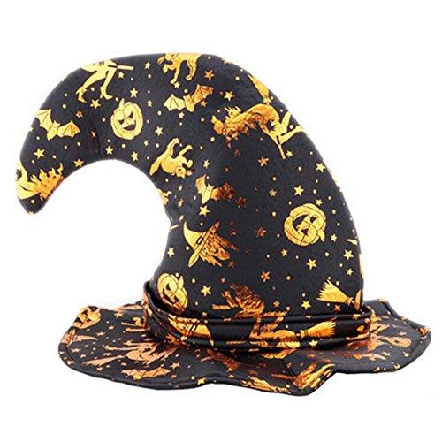 Black Temptation Disfraz de Halloween Party Dress Up Sombrero de Bruja Tip Cap Cosplay Party Decor-A1